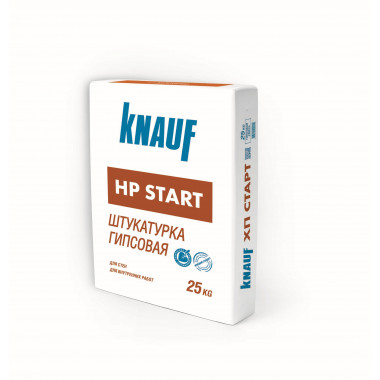 Купить Кнауф Штукатурка гипсовая HP-Start (25кг) в Сочи Адлере по низкой цене с доставкой на объект Грузчики