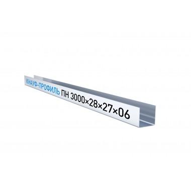 Купить Кнауф Профиль потолочный направляющий ППН 28х27 (3м) в Сочи Адлере по низкой цене с доставкой.Грузчики