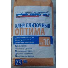 РусГипс №10 Оптима (25кг) Клей плиточный