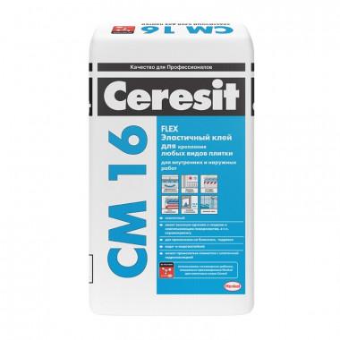 Купить Церезит CM16 Клей эластичный клей для плитки (25кг) В Сочи Адлере с доставкой и подъемом