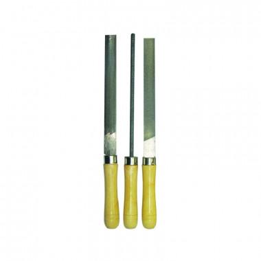 Набор напильников Biber 85307 с деревянной ручкой Мастер 250 мм 3 шт.
