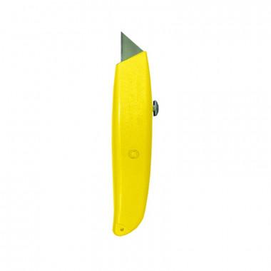 Нож строительный Biber 50115 металлический корпус, лезвие трапеция