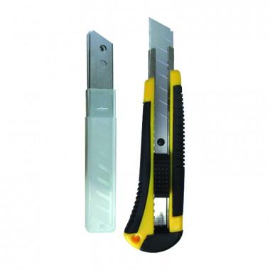 Нож строительный Biber 50113 усиленный 18 мм+3 запасных лезвия
