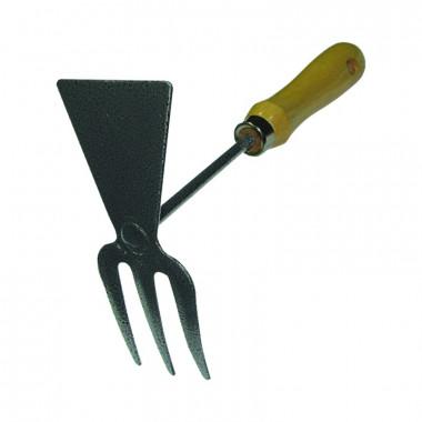 Мотыжка садовая Farina 93106 прямое лезвие 3 зубца 250 мм