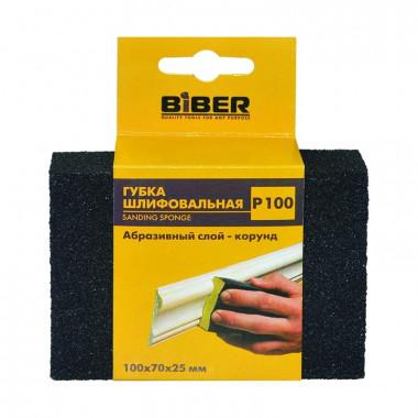 Губка шлифовальная Biber 70673 четырехсторонняя Р100 100х70х25