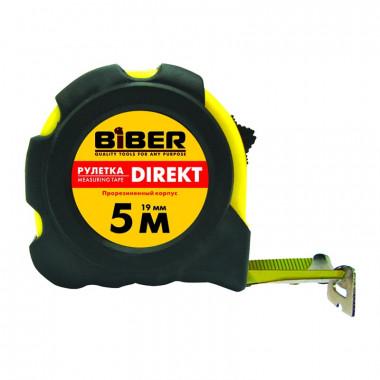 Рулетка Biber 40102 Direkt обрезиненный корпус 3 м/16 мм