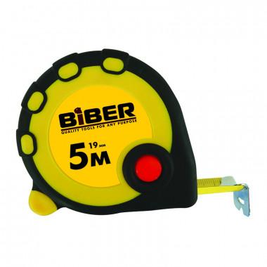 Рулетка Biber 40092 Standart обрезиненный корпус 5 м/19 мм