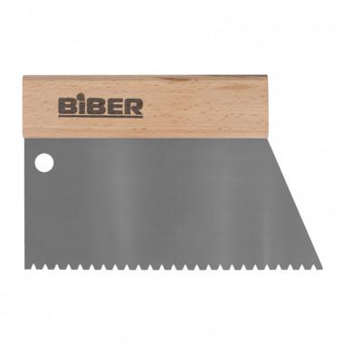 Шпатель для клея Biber 35282 зуб тип B6, 180 мм