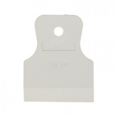 Шпатель резиновый Biber 35266 белый 60 мм