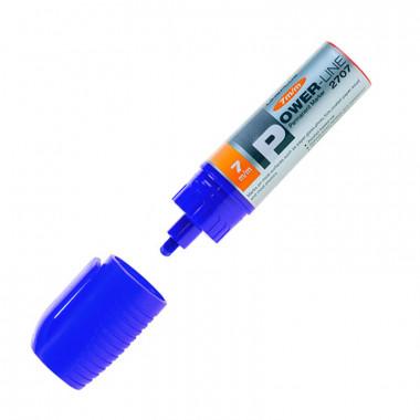 Маркер перманентный скошенный Power-Line 2707 синий линия 7 мм