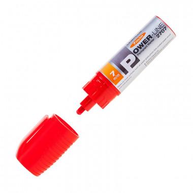 Маркер перманентный скошенный Power-Line 2707 красный линия 7 мм