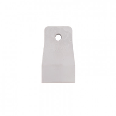 Шпатель резиновый Biber 35265 белый 40 мм