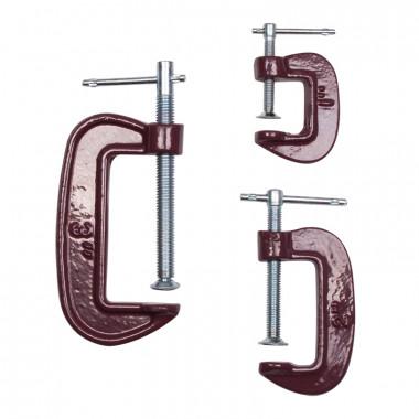 Набор струбцин Biber 85861 тип G (25 мм, 50 мм, 75 мм), 3 шт.