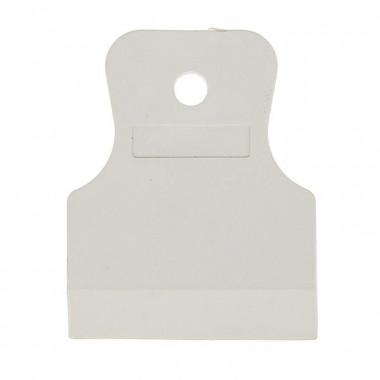 Шпатель резиновый Biber 35267 белый 80 мм