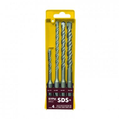 Набор буров Biber 79502 SDS + (d=5, 6, 8, 10 мм) (набор 4 шт.)