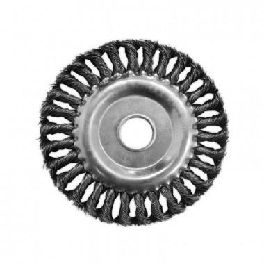Щетка-крацовка дисковая витая 175 мм, посадка отверстие 22 мм