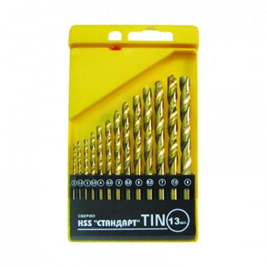 Набор сверл по металлу Biber 74133 HSS-TIN Стандарт 2-8 мм (13 шт)