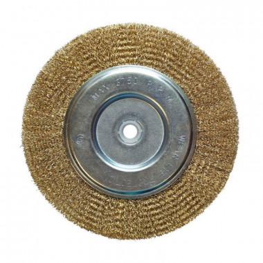 Щетка-крацовка дисковая 200 мм, отв 22,2 мм с компл.переходников