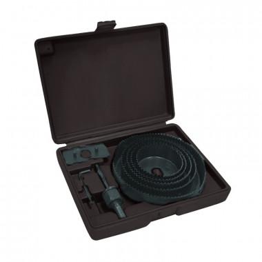 Набор кольцевых пил (коронок) Biber 71312 64-127 мм в кейсе (8 шт.)